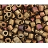 Tube Beads 5.7mm with 2mm Hole Metallic Copper Mix Dyed
